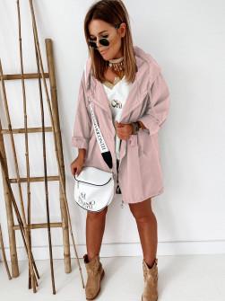 Γυναικείο μπουφάν με φερμουάρ 9197 ρоζ