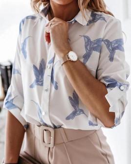 Γυναικείο πουκάμισο με print 2100902