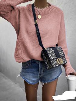 Γυναικείο πουλόβερ 00701 ροζ