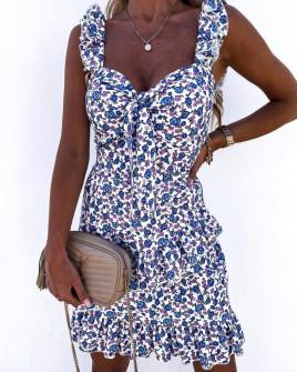 Γυναικείο φόρεμα με φλοράλ ντεσέν 2133501