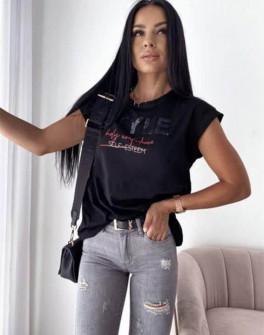 Γυναικείο κοντομάνικο 7773401 μαύρο