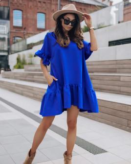 Γυναικείο χαλαρό φόρεμα 7073 μπλε