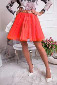 Γυναικεία κλος φούστα 3575 κόκκινη