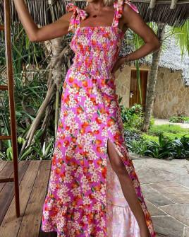 Γυναικείο φόρεμα με φλοράλ print 5580103