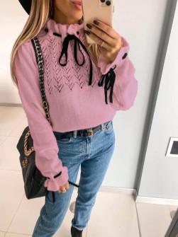 Εντυπωσιακό πουλόβερ 8137 ροζ