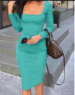 Φόρεμα με τετράγωνο ντεκολτέ 3450 μέντα