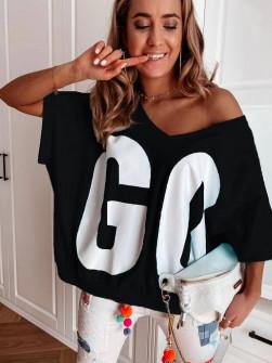 Γυναικεία χαλαρή μπλούζα 3069 μαύρη
