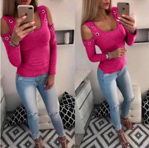 Γυναικεία έξωμη μπλούζα με τρούκς 2040 φούξια