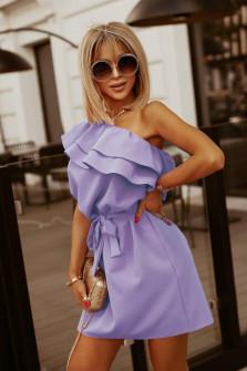 Γυναικείο έξωμο φόρεμα 5776 λιλά