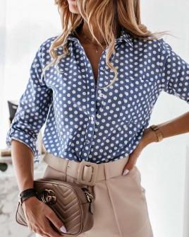 Γυναικείο πουκάμισο με print 2100905