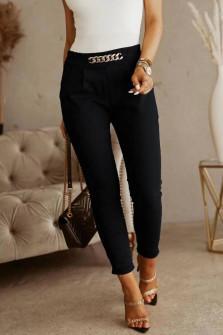 Γυναικείο εντυπωσιακό παντελόνι 5886 μαύρο