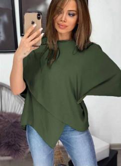 Γυναικεία εντυπωσιακή μπλούζα 3024 χακί