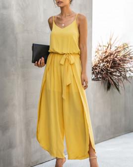 Γυναικεία ολόσωμη φόρμα 5112 κίτρινη