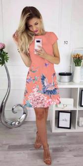 Γυναικείο φόρεμα 341506 κοραλί