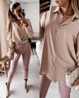 Γυναικείο μακρύ πουκάμισο 5549 μπεζ