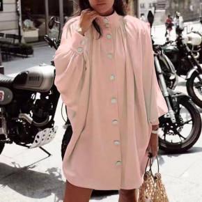 Γυναικείο χαλαρό μπλουζοφόρεμα 3457 ροζ