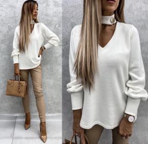 Γυναικεία εντυπωσιακή μπλούζα 5459 άσπρη