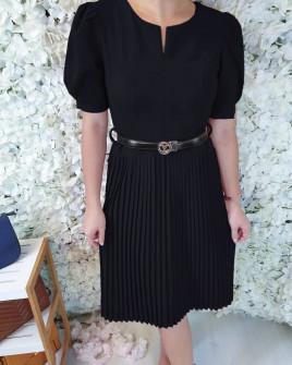 Γυναικείο φόρεμα σολέϊ 3961 μαύρο