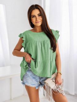 Γυναικεία χαλαρή μπλούζα 9478 μέντα
