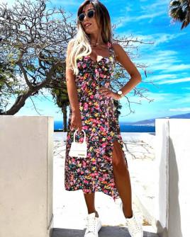 Γυναικείο φόρεμα με σκίσιμο 629402
