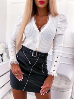 Γυναικεία εντυπωσιακή μπλούζα 0861 άσπρη