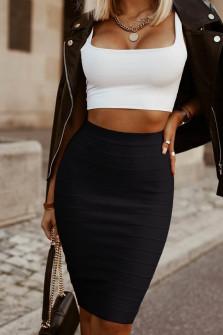 Γυναικεία ψηλόμεση φούστα 2399 μαύρο