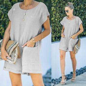 Γυναικεία χαλαρή ολόσωμη φόρμα 21262 γκρι