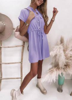 Γυναικείο φόρεμα με κουμπιά 5706 λιλά