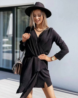 Γυναικείο κομψό φόρεμα 5987 μαύρο