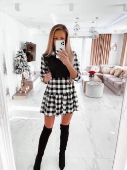 Φόρεμα καρό  2756