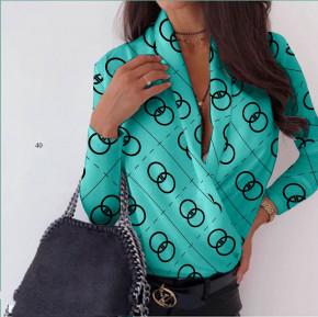 Γυναικεία μπλούζα κρουαζέ 502006 τυρκουάζ
