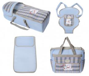 Σετ πορτ μπεμπέ, τσάντα, μάρσιπος και στρώμα 04113 γαλάζιο