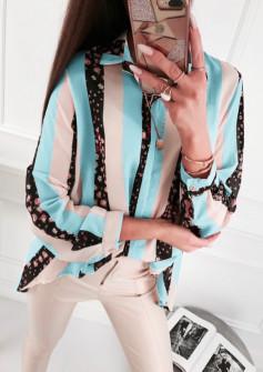 Γυναικείο πουκάμισο 5041 γαλάζιο
