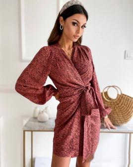 Γυναικείο φόρεμα με εντυπωσιακό ντεσέν 581602
