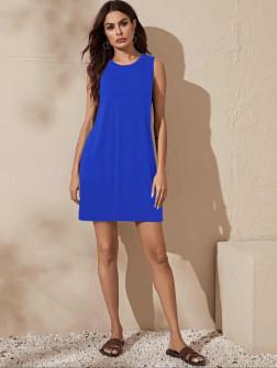 Γυναικείο μπλουζοφόρεμα 5175 μπλε