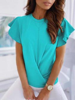 Γυναικεία εντυπωσιακή μπλούζα 2200 τυρκουάζ