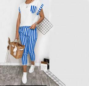 Γυναικείο σετ παντελόνι και μπλούζα 21102 μπλε