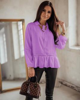 Γυναικείο εντυπωσιακό πουκάμισο 5486 μωβ