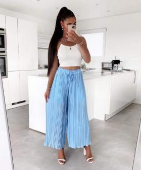 Γυναικείο παντελόνι σολέιγ 34456 γαλάζιο