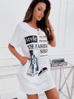 Γυναικείο μπλουζοφόρεμα 14467 άσπρο