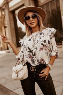 Γυναικεία μπλούζα με print 5341 άσπρη