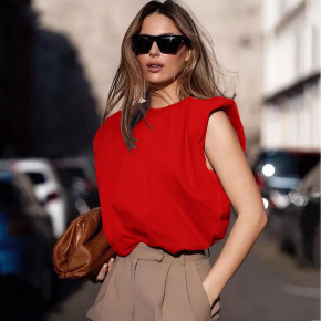 Γυναικείο αμάνικο μπλουζάκι 5090 κόκκινο