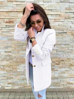 Γυναικείο σακάκι με χρυσά κουμπιά 5016 άσπρο
