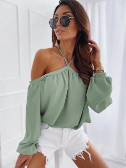 Γυναικεία έξωμη μπλούζα 3374 πράσινη