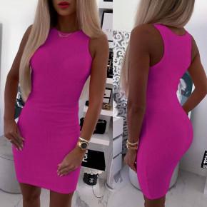 Γυναικείο εφαρμοστό φόρεμα 5582 φούξια