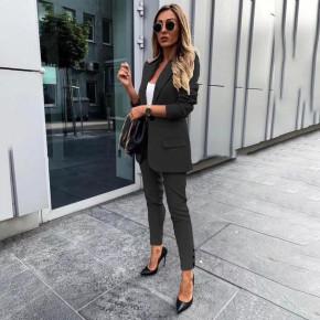 Γυναικείο σετ σακάκι και παντελόνι 3998 μαύρο
