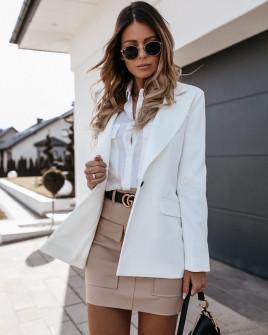 Γυναικείο σακάκι με φόδρα 5256 άσπρο