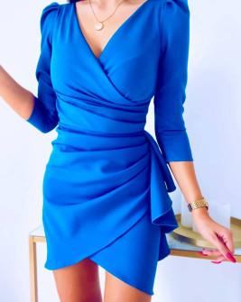 Γυναικείο εντυπωσιακό φόρεμα 8293 μπλε