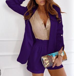 Γυναικείο σετ σακάκι και παντελόνι 5045 μωβ