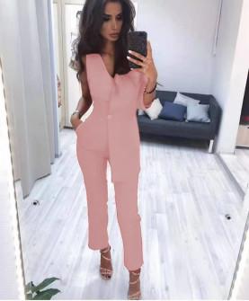 Γυναικεία ολόσωμη φόρμα 20910 ροζ